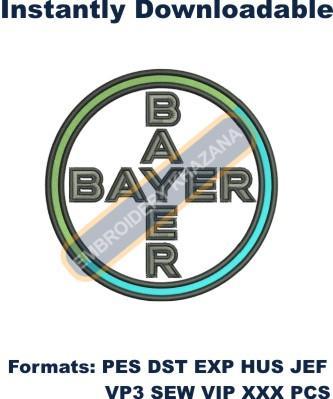 Bayer Logo Embroidery designs