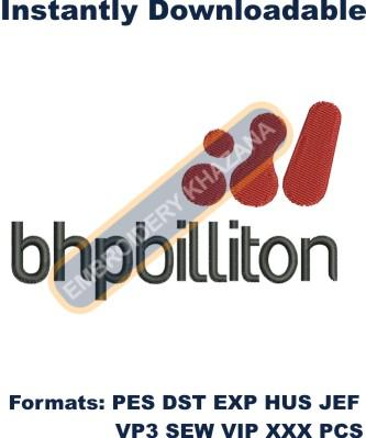 BHP Billiton Logo Embroidery Designs