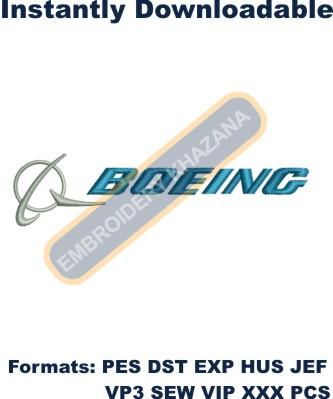 Boeing Logo Embroidery Designs