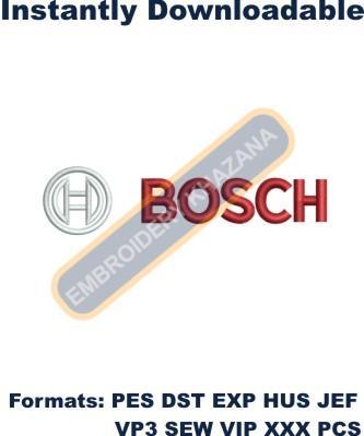 Bosch Logo Embroidery Designs