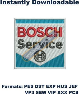 Bosch Service Logo Embroidery Designs