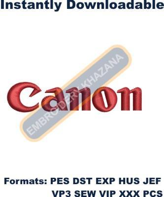 Canon Logo Embroidery Designs