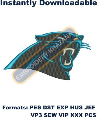 Carolina Panthers logo embroidery design