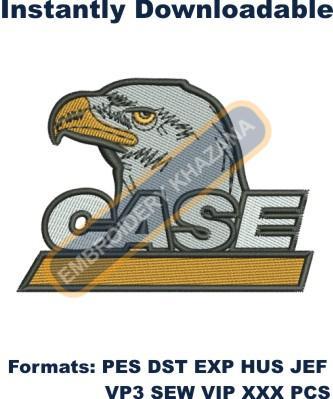 Case Eagle Logo Embroidery Designs