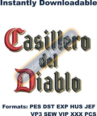 Casillero letters logo embroidery design