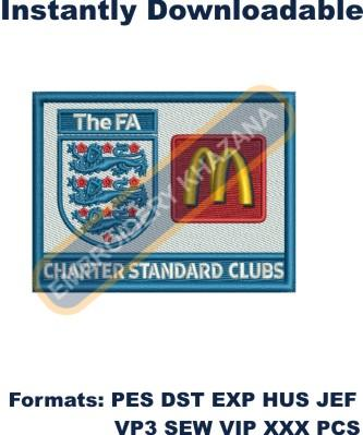 The Fa McD Logo Embroidery Designs