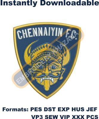 Chennaiyin FC Logo Embroidery Designs