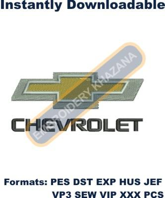 Chevrolet car logo Embroidery design