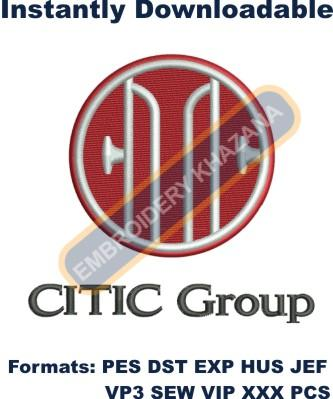 Citic Group Logo Embroidery Designs