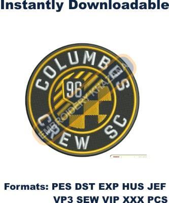 Columbus Crew SC Logo Embroidery Designs
