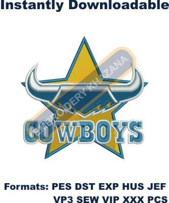 North Queensland Cowboys Logo Embroidery Designs