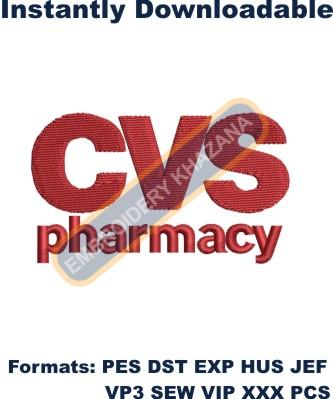 CVS Pharmacy Logo Embroidery Designs
