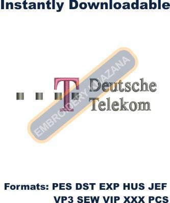 Deutsche telekom logo embroidery design