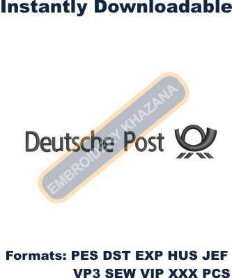 Deutsche Post Logo Embroidery Designs