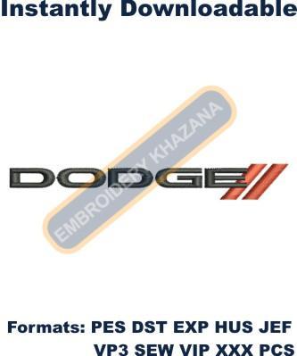 Dodge Logo Embroidery Designs