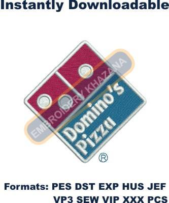Dominos Pizza Logo Embroidery Designs
