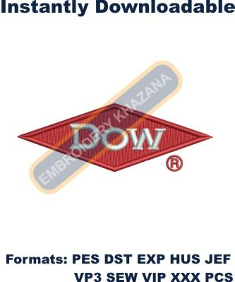 dow chemical embroidery design