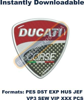 Ducati Corse Logo Embroidery Designs