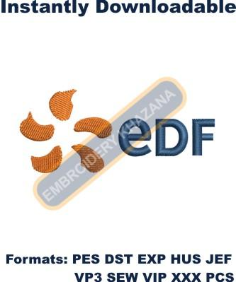 EDF Logo Embroidery Designs