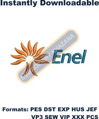 Enel Logo Embroidery Designs