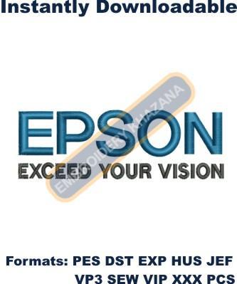 Epson Logo embroidery design