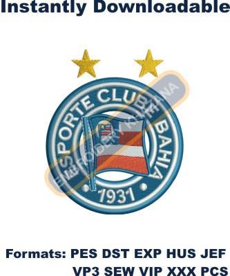Esporte Clube Bahia Logo Embroidery Designs