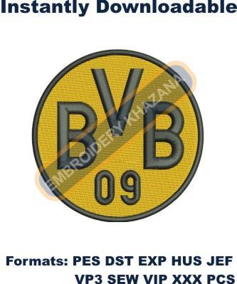 Borussia Dortmund Logo Embroidery Designs