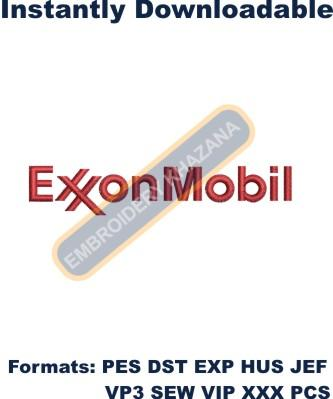 ExxonMobil Logo Embroidery Designs