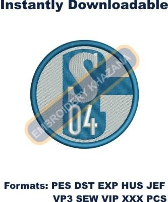 FC Schalke 04 embroidery design