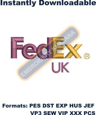 FedEx UK Logo Embroidery Designs