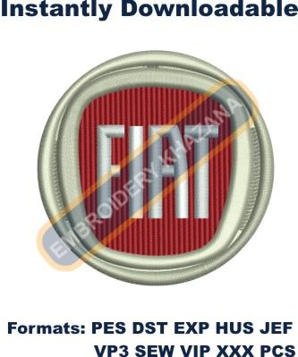FIAT CAR LOGO embroidery design