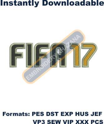 FIFA 17 Logo Embroidery Designs