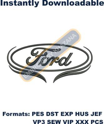 FORD CAR LOGO embroidery design