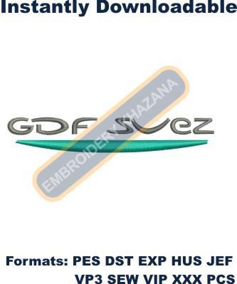 GDF Suez Logo Embroidery Designs