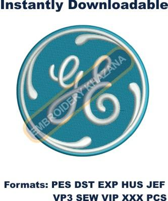 General Electric Logo Embroidery Designs