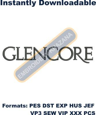 Glencore Logo Embroidery Designs