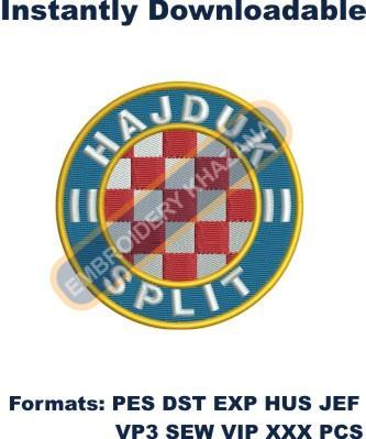 HNK Hajduk Split Logo Embroidery Designs