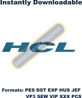 HCL Logo Embroidery Designs