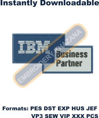 IBM Business Partner Logo Embroidery Designs