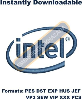 Intel Logo Embroidery Designs
