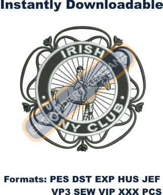 Irish Pony Club Logo Embroidery Designs
