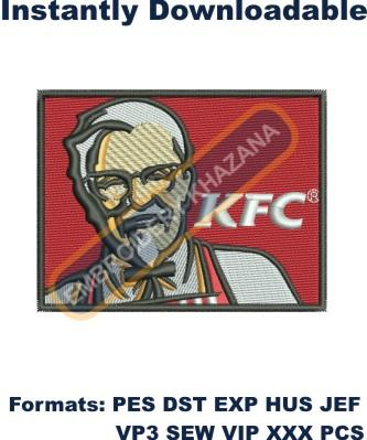KFC Logo Embroidery Designs