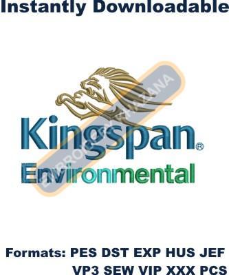 kingspan Environmental Logo Embroidery Designs
