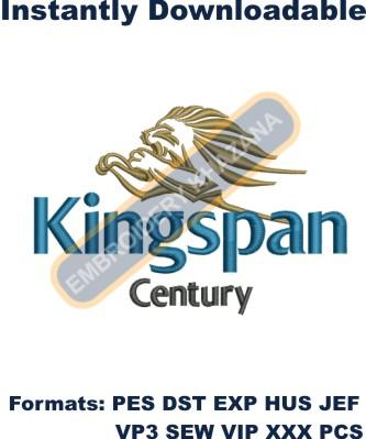 kingspan Century Logo Embroidery Designs