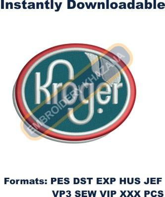 Kroger Logo Embroidery Designs