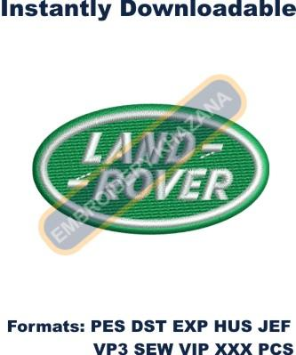 land rover car logo embroidery design