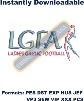Ladies Gaelic Football Logo Embroidery Designs