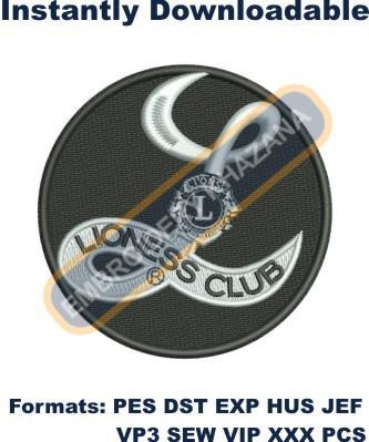 Lioness Club Logo Embroidery Designs