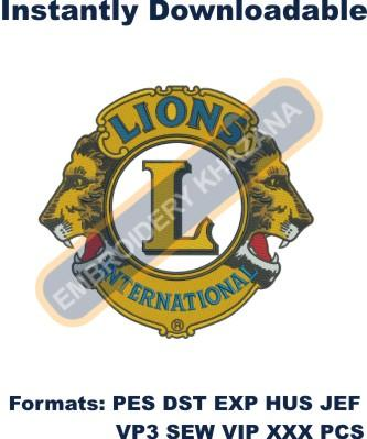 Lions Club Logo Embroidery Designs