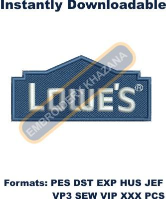 Lowes Logo Embroidery Designs